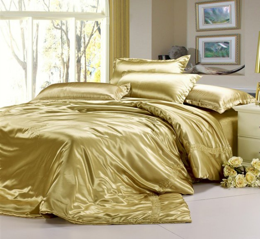 Antonio 9 piece comforter set by chic home gold